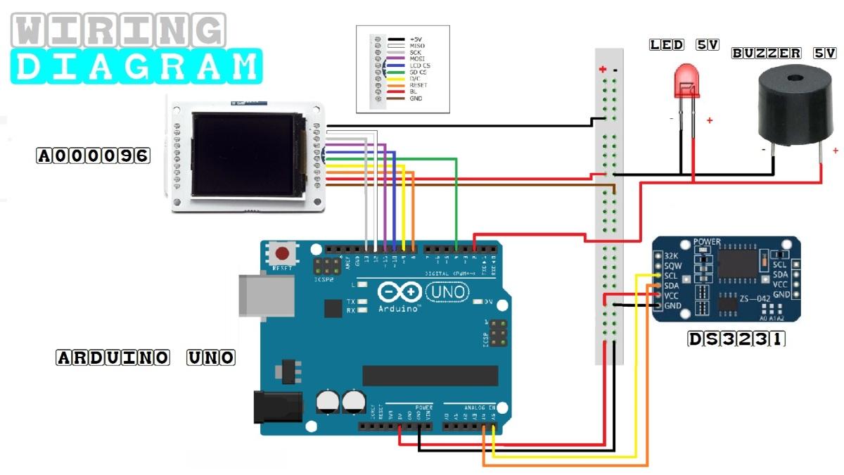 Arduino wiring diagram DS3231 + Buzzer + Led.jpg